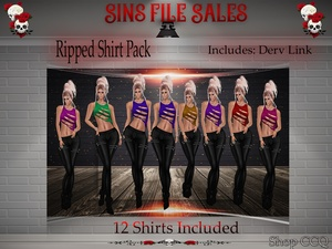Ripped Shirt Pack *12 Shirts Included