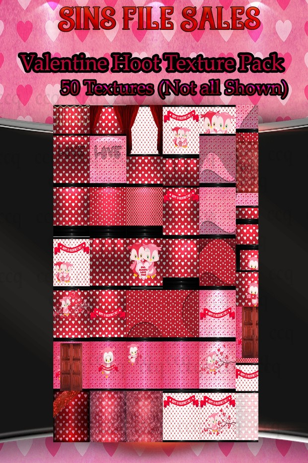 Valentine Hoot Texture Pack- 50 Textures