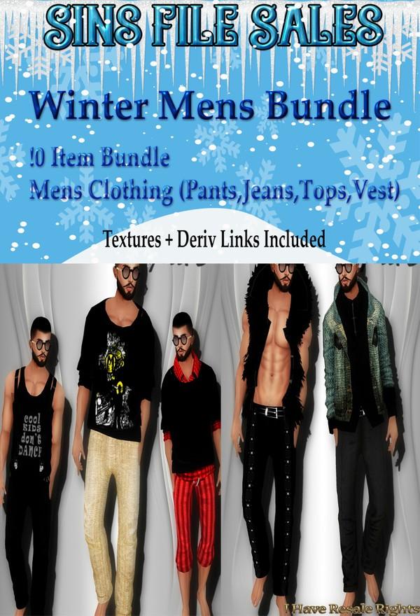 ♥Sale♥ Mens 10 Item Clothing Bundle (Tops, bottoms, jeans, vest)