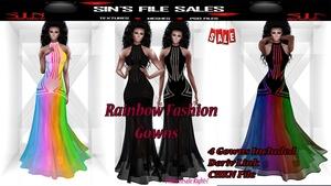 Rainbow Fashion Gown Bundle