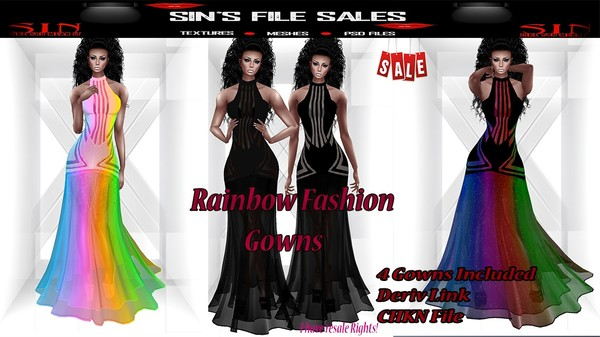 Rainbow Fashion Gown Bundle