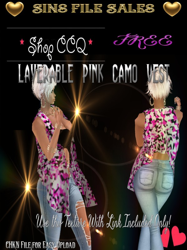 Freebie#2 *Layer-able Pink Camo *CHKN File Included