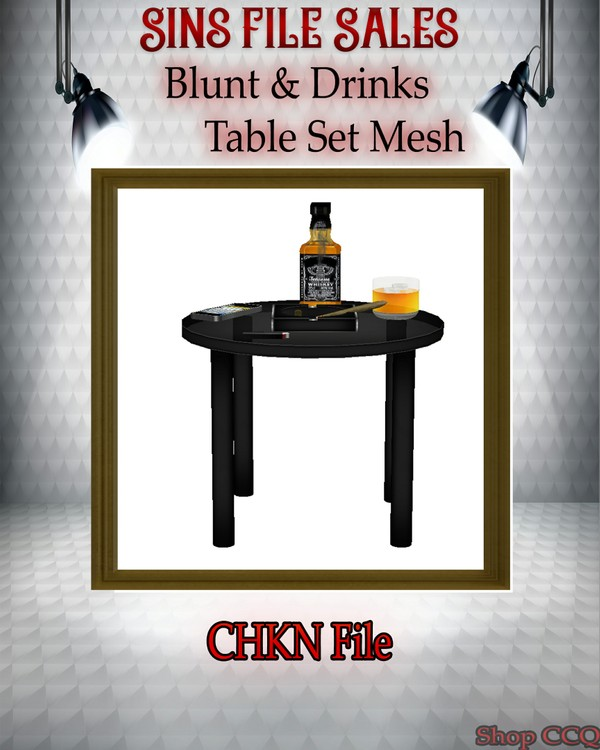 •Blunt, Liquor Table Set Mesh•