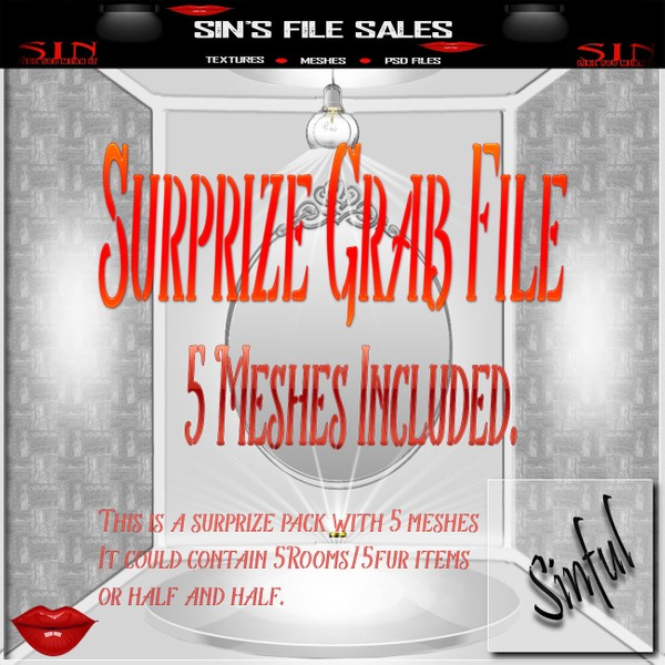 Surprise Mesh Bundle #2 * 5 Meshes Included WITH Resale RIghts
