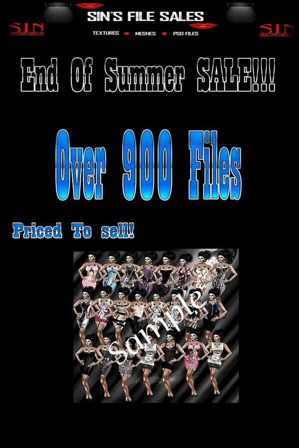 End Of SUMMER SALE!! Over 900 Files Included!