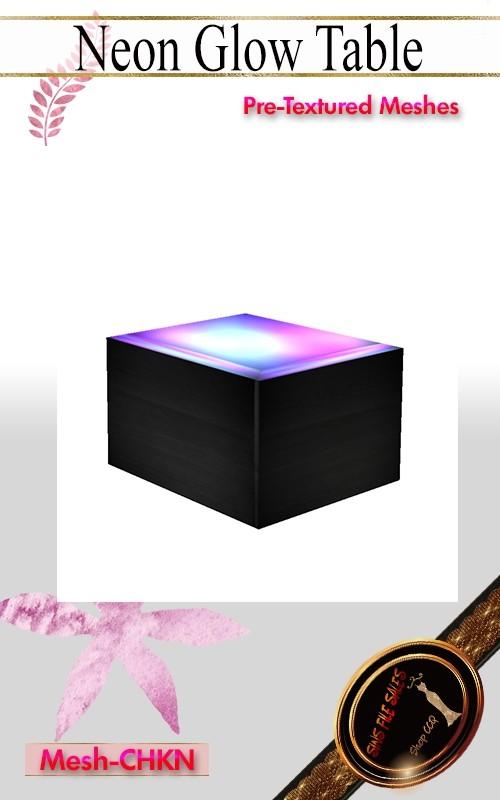 •Neon Glow Table•