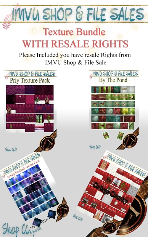 -RESALE RIGHT BUNDLE- 4 Textures Packs Included