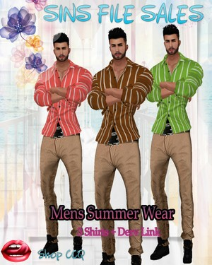 •Mens Summer Wear*