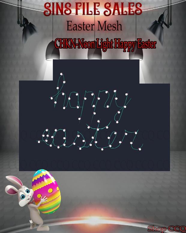 •Easter Mesh - Neon Happy Easter•