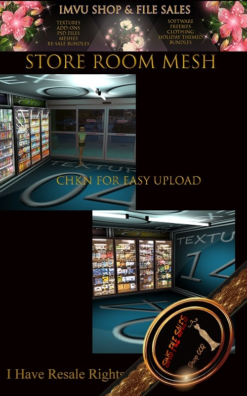 Store Mesh-Freezer/Fridge Textures Included in Mesh