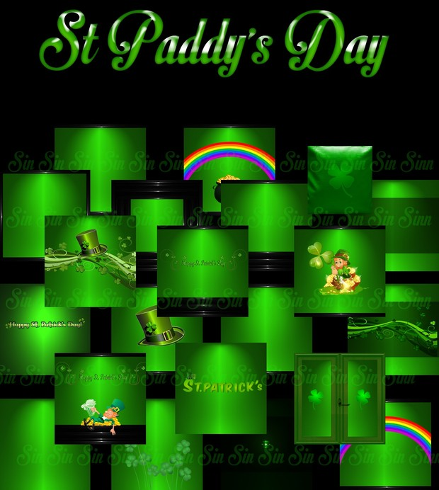 St Paddy's Day Textures (Light Green)