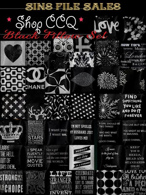 """""""Sayings"""" Black Pillow Pack"""