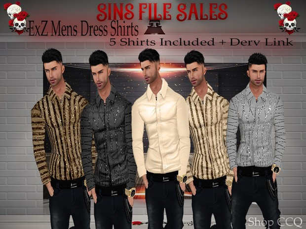 ExZ Mens Dress Shirts *5 Shirts