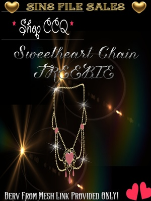 ~Freebie~ Sweetheart Gold Chain