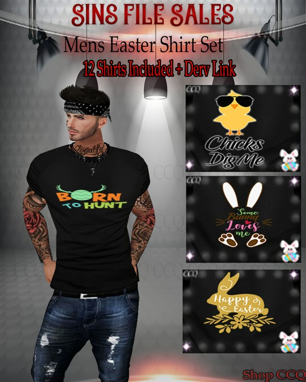 SALE🐰🐥Mens Easter Shirt Set- 12 Shirts Included 🐰🐥Price Dropped