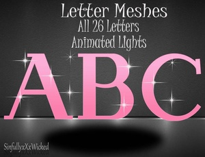26 Letter Meshes *Animated Lights