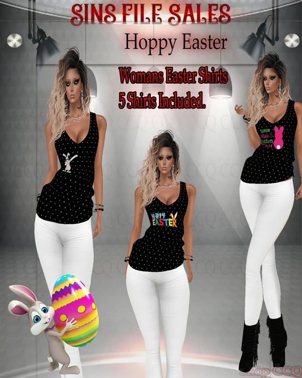 •Easter Shirts-CHKN *Limited Freebie*Use Mesh Provided ONLY!