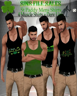🍀 Mens St Paddy Shirts