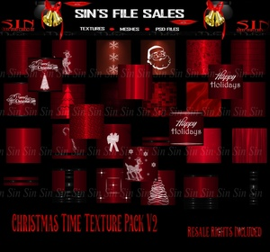 Christmas Time Texture Pack V2 / Resale Rights Included