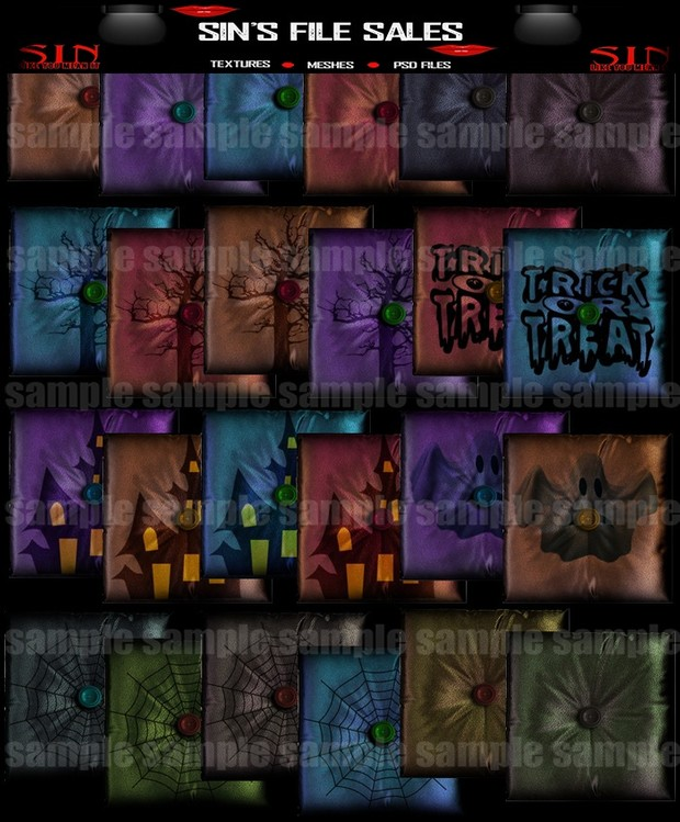 Halloween Pillow Pack 2 (60 png)