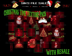 Christmas Time Texture Pack W/Resale Rights