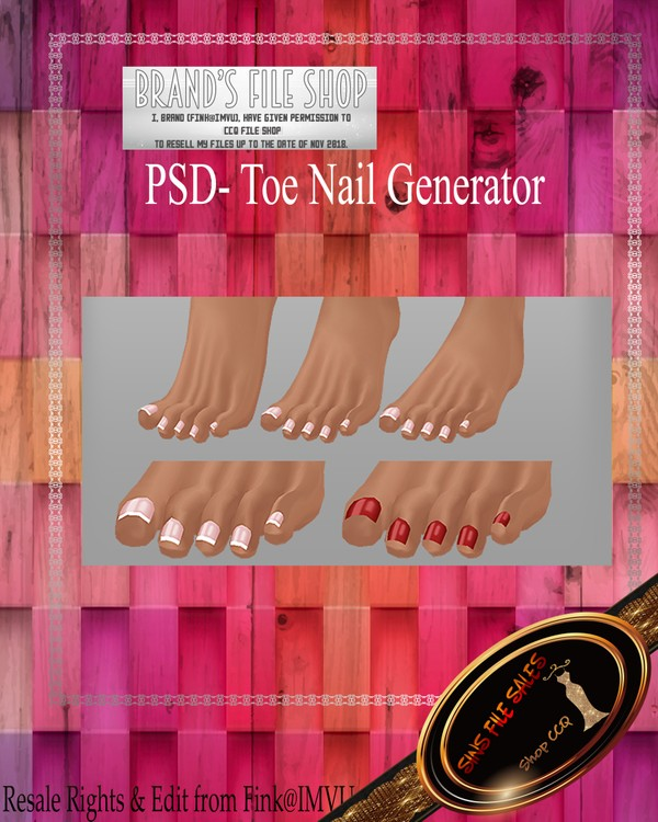 •Toe Nail Generator PSD•
