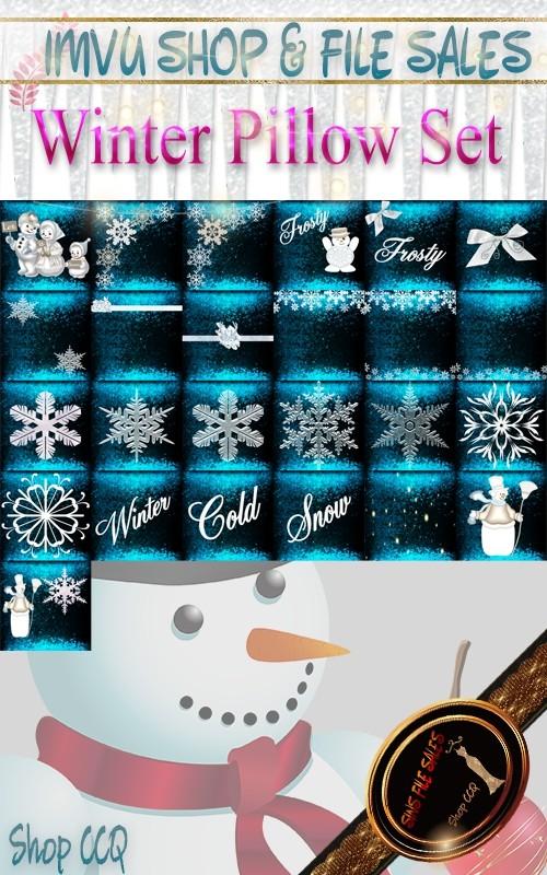 Winter Pillow Pack- 25 Files
