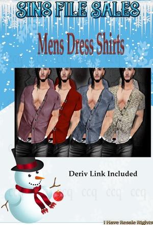 Mens Dress Shirt Set