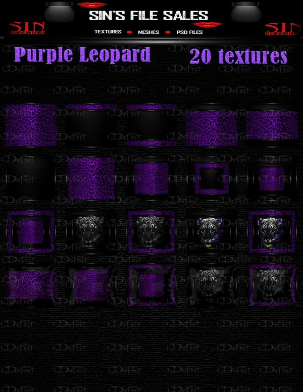 Purple Leopard Texture pack