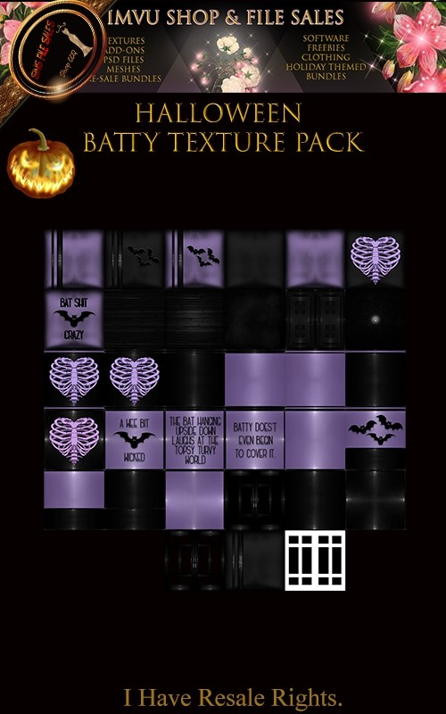 🎃 Halloween Batty Texture Pack🎃