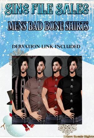 Mens Bad Bone Shirt Set