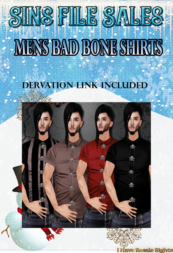 Mens Bad Bone Shirt Set