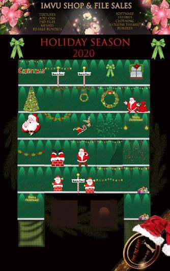 Holiday Season Texture Pack- 32 Files