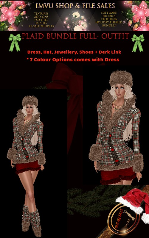 Plaid Full Outfit- 7 Colors Included + Derv Links