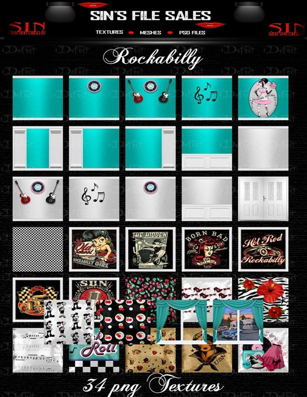 Rockabilly Texture Pack
