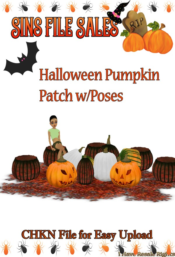 Halloween Pumpkin Patch w/Poses