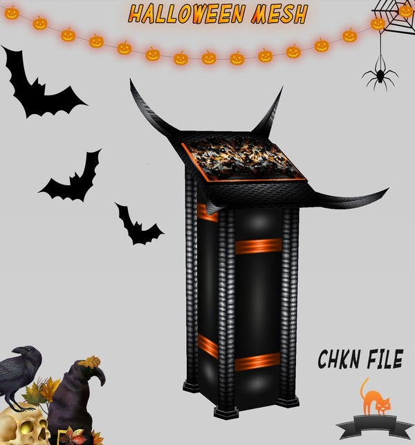 🎃Evil Halloween Stand Mesh🎃