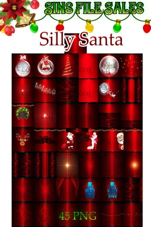Silly Santa Texture Pack *45 Png