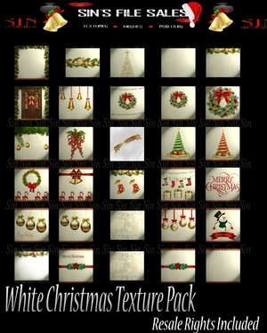 White Christmas Texture Pack Resale Rights Included
