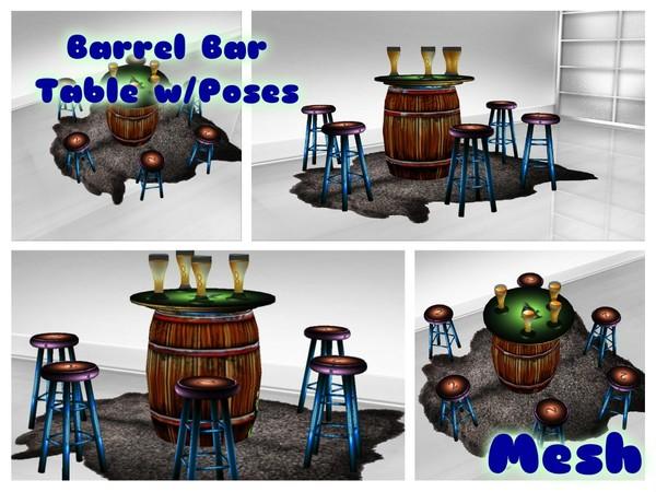 Barrel Bar Table w/Poses