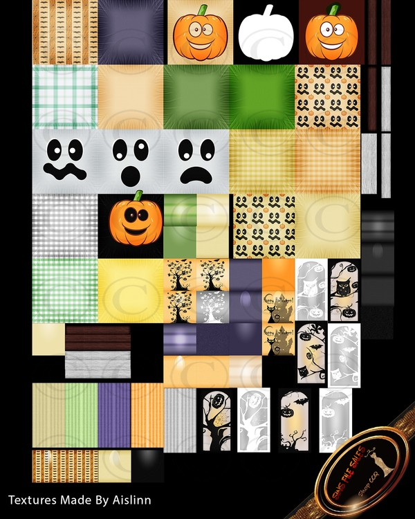 •2018 Halloween Texture Set•75 Files
