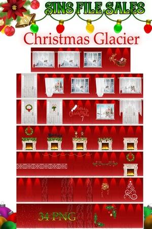 Christmas Glacier Texture Pack *34 Png