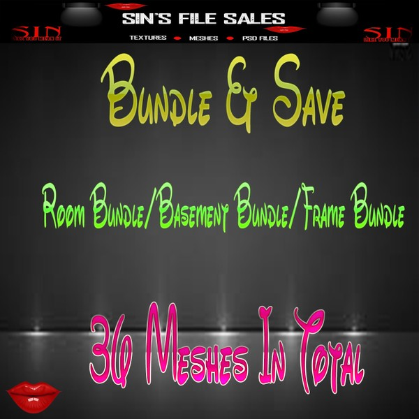 Bundle & Save 3 Bundles Included *36 Meshes in Total