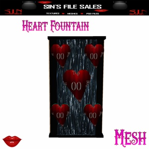 Heart Fountain*Mesh W/Resale Rights