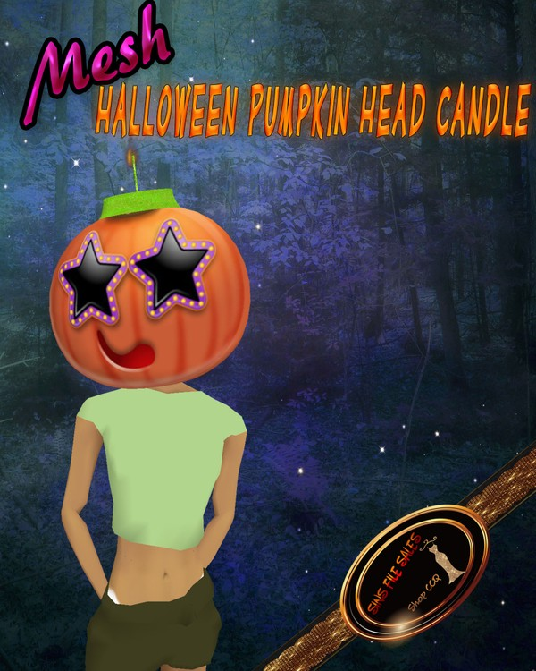 •Pumpkin/Candle Head Mesh•