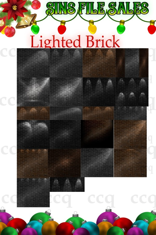 Lighted Brick Textures * 34 png