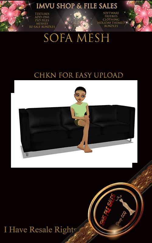 Sofa w/Poses Mesh