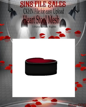 ♥Heart Stool Mesh*CHKN File