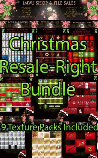 **Resale-Right Christmas Texture Bundle-