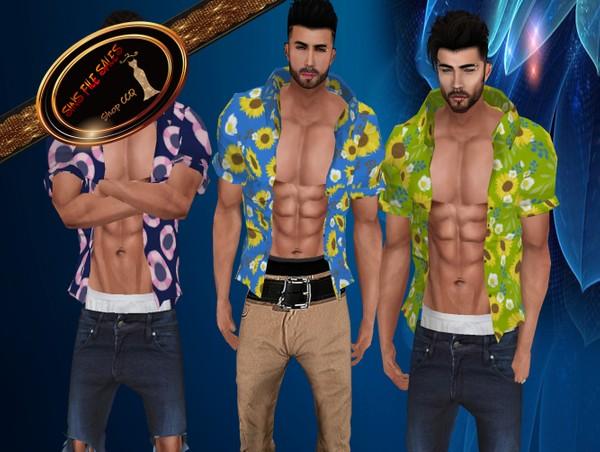 •Mens Summer Open Shirt Set•3 Shirts + Derv Link